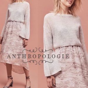 Anthropologie Sleeping on Snow Cropped Sweater